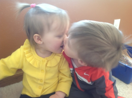 Cousins Kissing