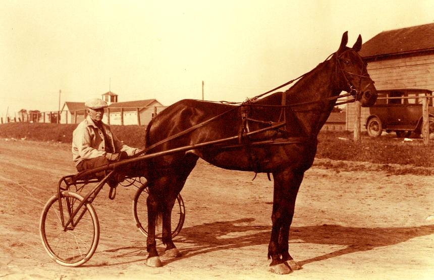 Grandpa Longenecker and his racer